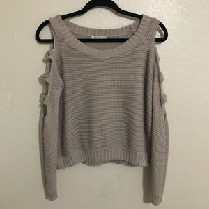 Tan Open Sleeve Sweater XS